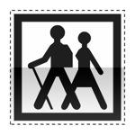 Idéogramme annonçant un point de départ d'un itinéraire d'excursions à pied