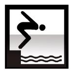 Idéogramme indiquant une piscine
