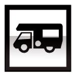 Idéogramme représentant une autocaravanne