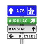 Panneau de direction de pré-signalisation courante carrefours