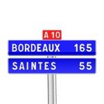 Panneau de direction de confirmation courante utilisé sur autoroute