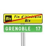 Panneau de direction annonce la fin d'un itinéraire Bis