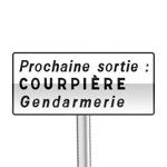 Panneau de direction de signalisation complémentaire de sortie