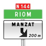 Panneau de direction de pré-signalisation d'affectation de voies de sortie non numérotée
