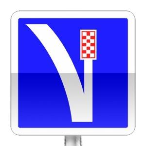 Panneau d'indication de voie de détresse à droite