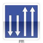 Pré signalisation d'un créneau de dépassement ou d'une section de route à chaussées séparées