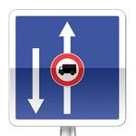 Conditions particulières de circulation par voie sur la route suivie