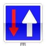 Priorité par rapport à la circulation venant en sens inverse