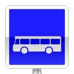 Arrêt d'autobus. L'arrêt et le stationnement des autres véhicules sont interdits, sur une étendue signalée par le marquage approprié