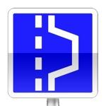 Emplacement d'arrêt d'urgence. L'emplacement constitué par un aménagement ponctuel de l'accotement est réservé aux arrêts d'urgence