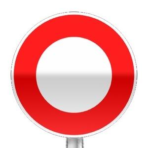 signalisation routi re panneaux d 39 interdiction b0 r visez le code de la route sur. Black Bedroom Furniture Sets. Home Design Ideas