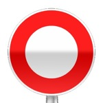 Panneau d'interdiction de circuler pour tout véhicule dans les deux sens