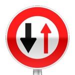Panneau d'interdiction, Céder le passage aux véhicules venant en sens inverse