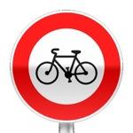 Panneau d'interdiction d'accès aux cycles