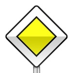 Panneau de priorité, indication du caractère prioritaire d'une route