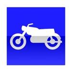 Symbole de direction conseillée aux motocyclettes et motocyclettes légères