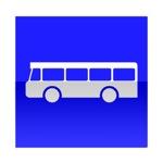 Symbole de direction conseillée aux véhicules de transport en commun
