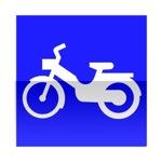 Symbole de direction conseillée aux cyclomoteurs