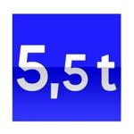 Symbole de direction conseillée aux véhicules, véhicules articulés, trains doubles ou ensemble de véhicules dont le poids total autorisé en charge ou le poids total roulant autorisé excède le nombre indiqué