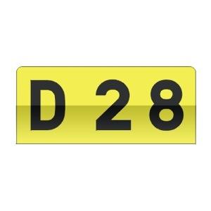 Cartouche utilisé pour caractériser le réseau routier départemental