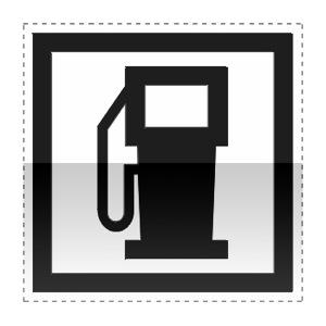 Idéogramme indiquant une station essence ouverte 7/7j et 24/24h