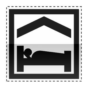 Idéogramme annonçant des chambres d'hôtes ou un gîte