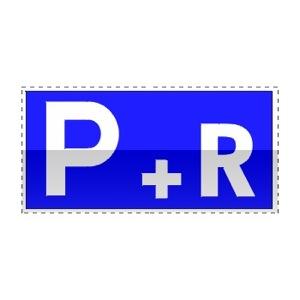 Idéogramme indiquant un parc relais