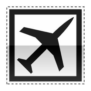 Idéogramme indiquant la présence d'un aéroport