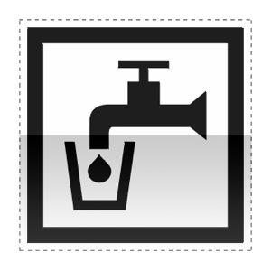 Idéogramme annonçant un point d'eau potable