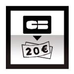 Idéogramme indiquant un distributeur automatique de billets de banque
