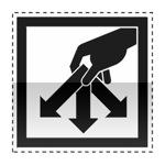 Idéogramme annonçant une déchetterie