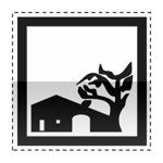 Idéogramme annonçant une maison de pays