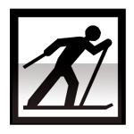 Idéogramme indiquant un point de départ de ski de fond