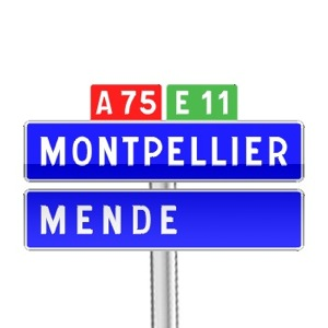 Panneau de direction de confirmation de filante utilisé sur autoroute
