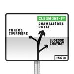 Panneau de direction de pré-signalisation diagrammatique des carrefours complexes