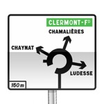 Panneau de direction de pré-signalisation diagrammatique des carrefours à sens giratoire