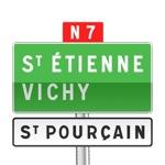 Panneau de direction de confirmation de filante utilisé sur route à chaussées séparées