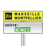 Panneau de direction de signalisation complémentaire d'itinéraire Bis