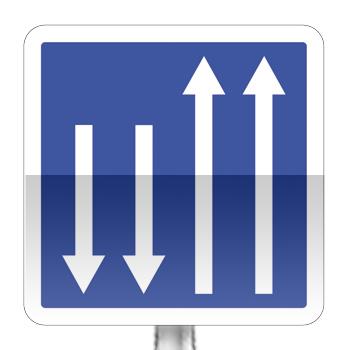 Panneau d'indication : Pré signalisation d'un créneau de dépassement