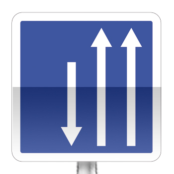 Panneau d'indication d'un créneau de dépassement