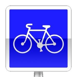 Panneau d'indication de bande cyclable