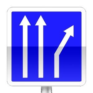 Panneau d'indication de voies affectées