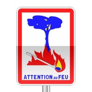 Panneau d'indication de risque d'incendie