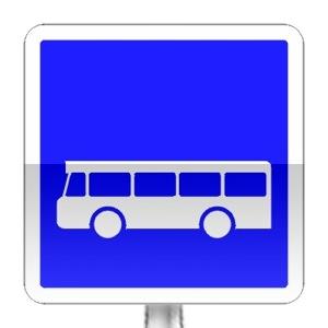 Panneau d'indication d'arrêt d'autobus