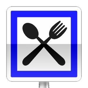 Panneau d'indication d'un restaurant ouvert 7/7j