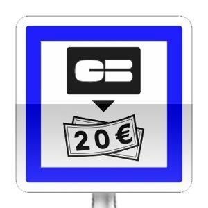 Panneau d'indication de distributeur de billets de banque