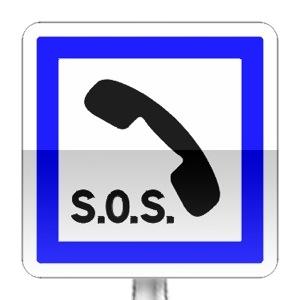 Panneau d'indication de poste d'appel d'urgence