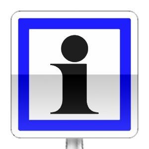 Panneau d'indication d'information relatives aux services ou activités touristiques