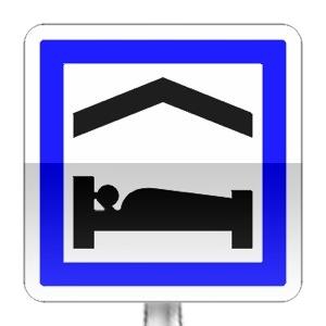 Panneau d'indication de chambre d'hôtes ou gîte