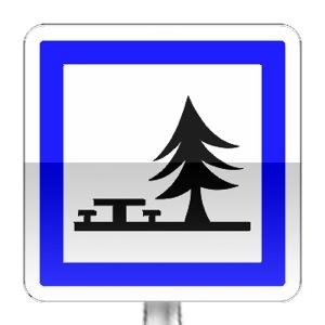Panneau d'indication d'un emplacement pour pique-nique